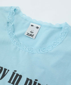 LACE S/S TEE, TOPS, X-Girl