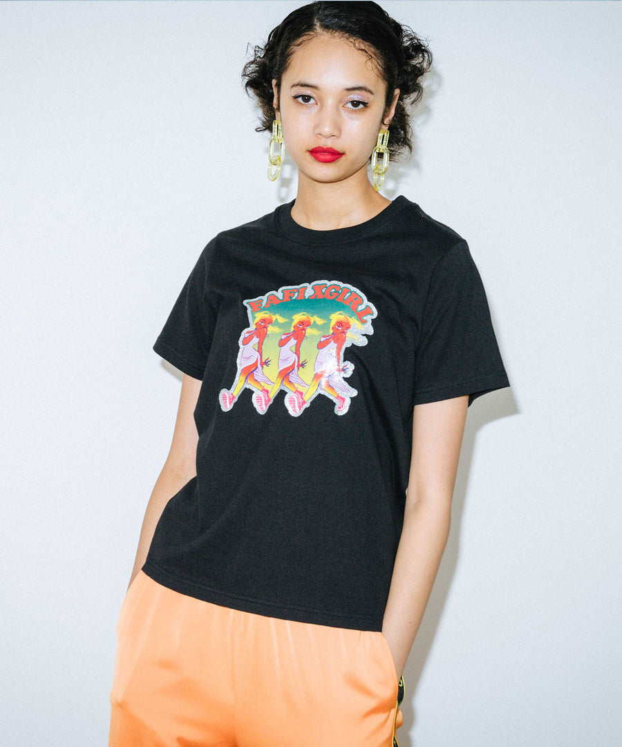 X-girl x FAFI 3GALS S/S REGULAR TEE, T-SHIRT, X-Girl