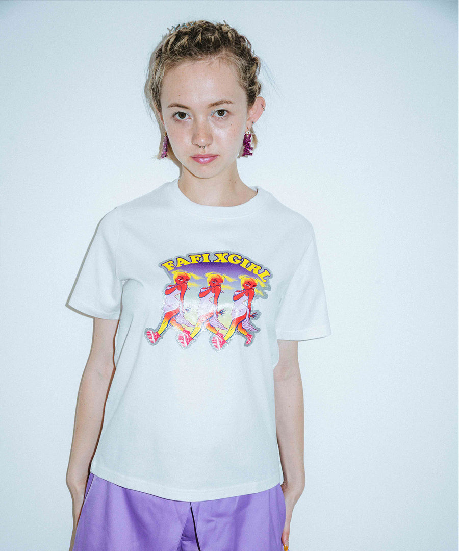 X-girl x FAFI 3GALS S/S REGULAR TEE