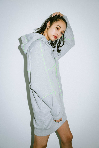 SWEAT ANORAK DRESS, DRESSES, X-Girl