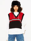 LINE KNIT VEST, HOODIES & SWEATERS, X-Girl