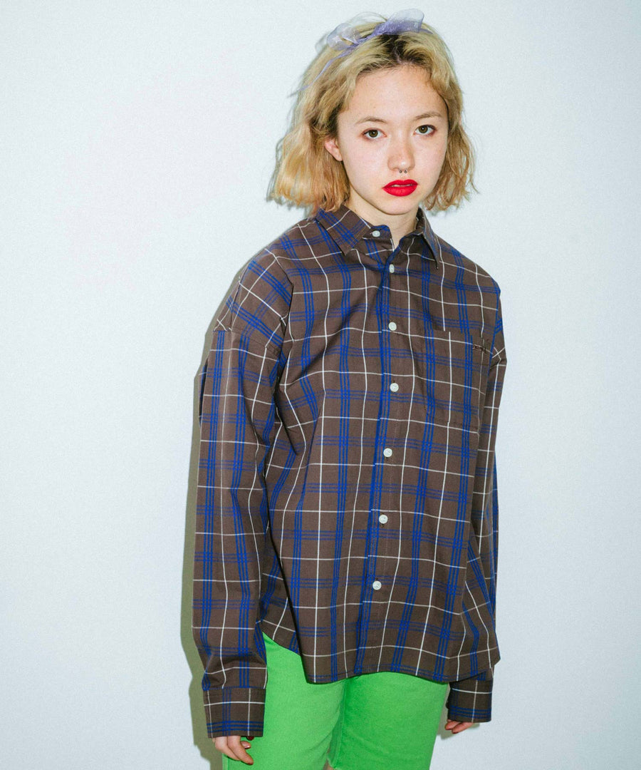 PLAID L/S SHIRTS, SHIRTS, X-Girl