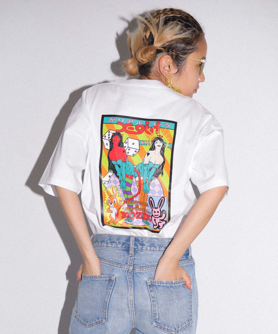 X-girl x KOZIK ANGELS & DEMONS S/S MENS TEE, T-SHIRT, X-Girl