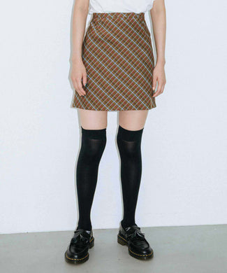 CLASSIC COLOR PLAID SKIRT, SKIRT, X-Girl