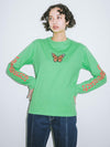 BUTTERFLY L/S REGULAR TEE, T-SHIRTS, X-Girl