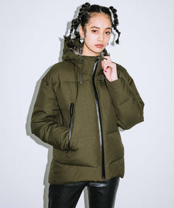 WOOL RIP-STOP DOWN JACKET, OUTERWEAR, X-Girl