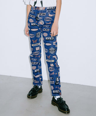 X-girl × HYSTERIC GLAMOUR ICONS 5-POCKET DENIM PANTS, PANTS, X-Girl