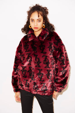 MONOGRAM FUR COACH JACKET, JACKET, X-Girl