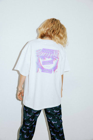 X-girl x VIDEO GIRL NOISE S/S MENS TEE - X-Girl