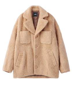 SHAGGY COCOON COAT, OUTERWEAR, X-Girl