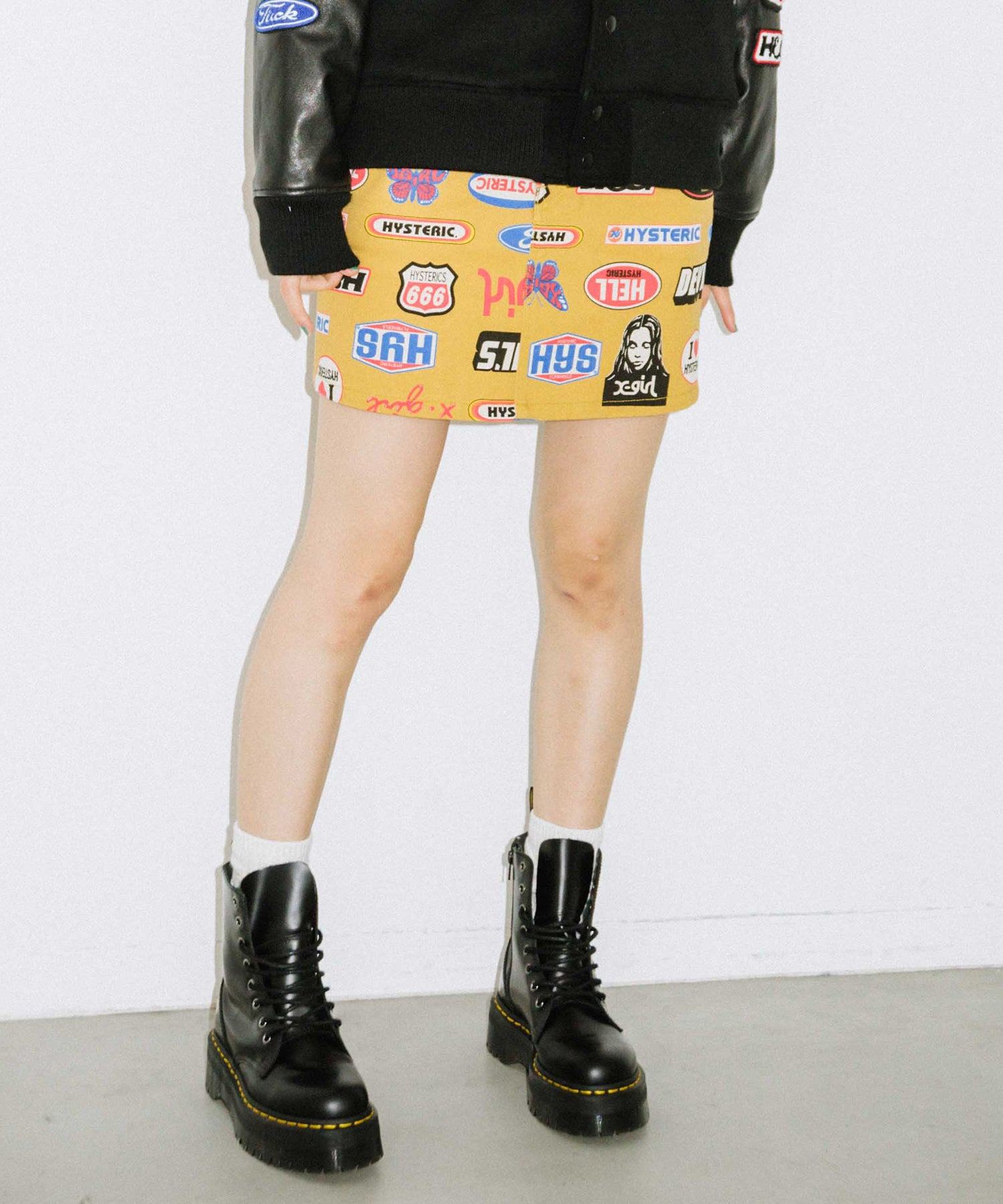 X-girl x HYSTERIC GLAMOUR ICONS 5-POCKET SKIRT, SKIRTS, X-Girl