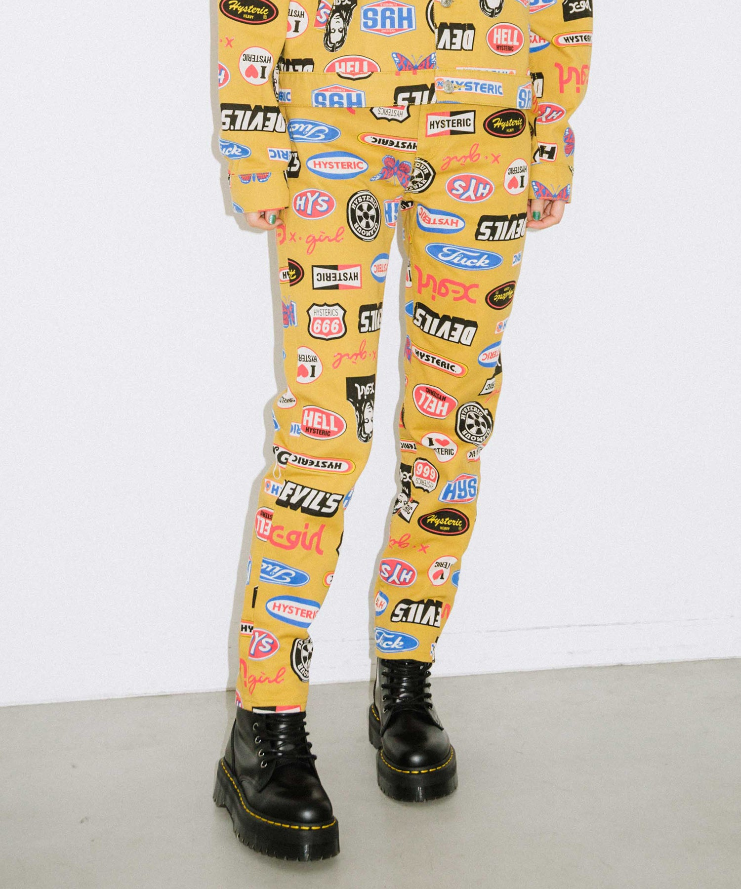 X-girl x HYSTERIC GLAMOUR ICONS 5-POCKET PANTS, PANTS, X-Girl