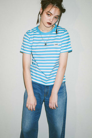 STRIPED BASIC TEE - X-Girl