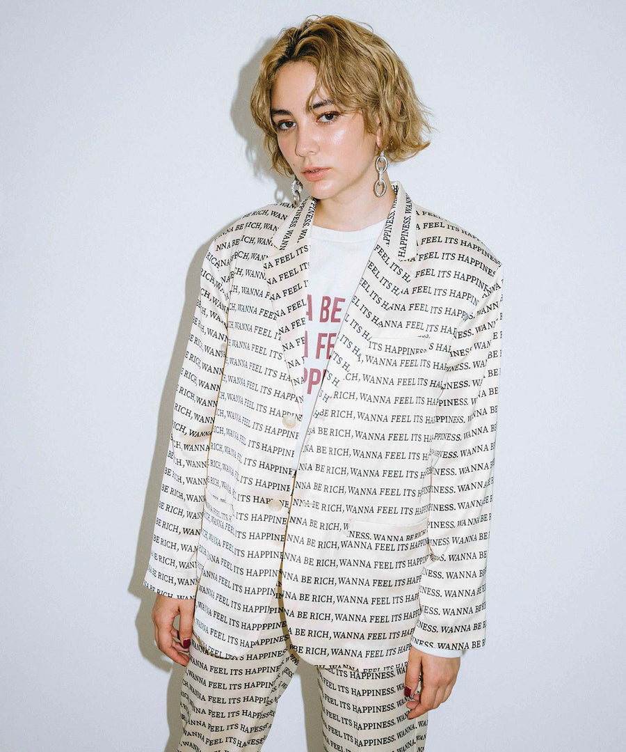 X-girl x YURINO SINGLE-BREASTED JACKET