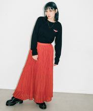 Load image into Gallery viewer, PLEATED CHIFFON LONG SKIRT, SKIRT, X-Girl