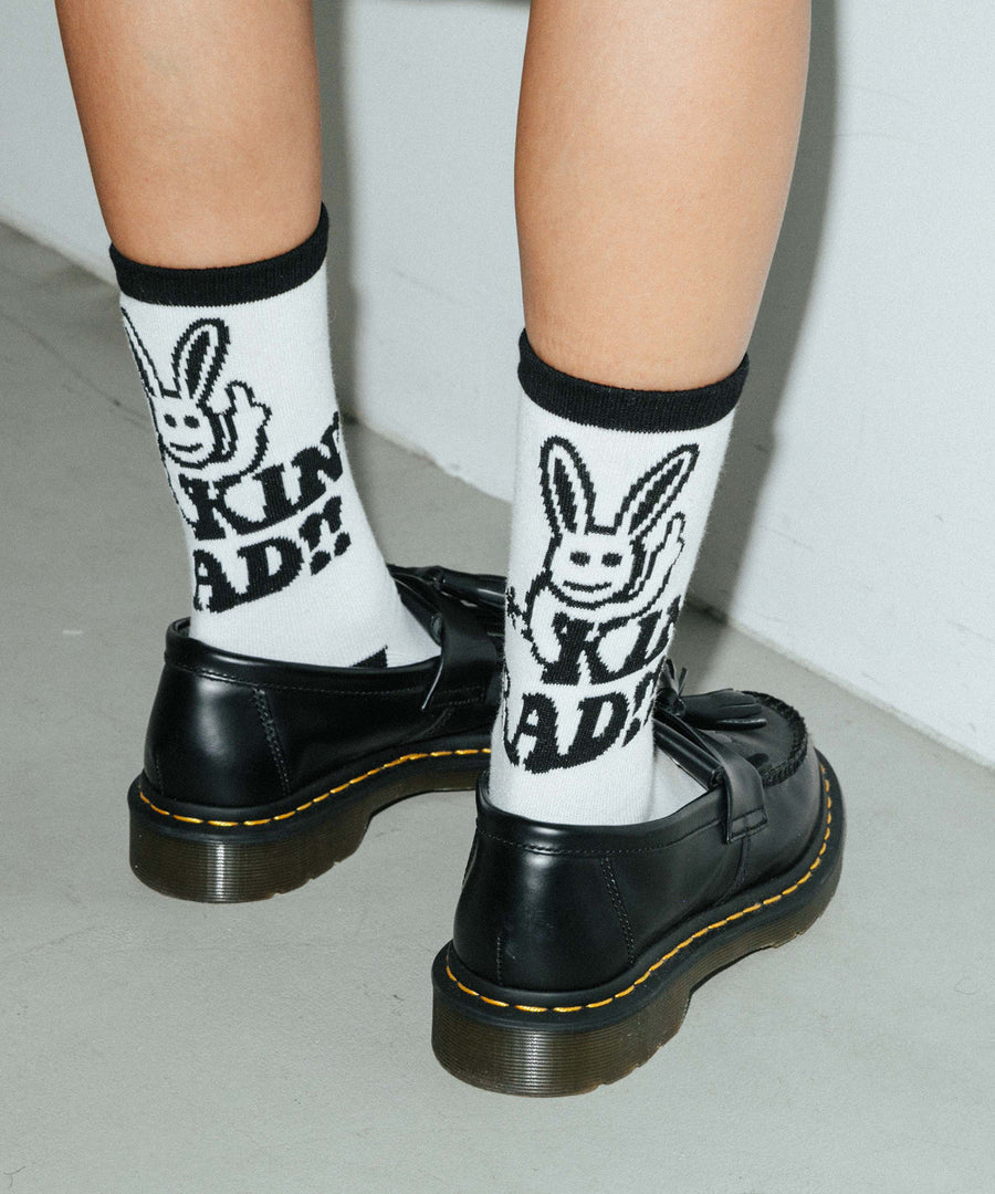 RAD BUNNY JACQUARD SOCKS, ACCESSORIES, X-Girl