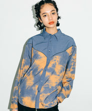 Load image into Gallery viewer, TIE DYE WESTERN SHIRT, SHIRT, X-Girl