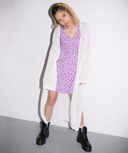 CROCHET LONG CARDIGAN, SHIRT, X-Girl