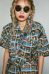 Chloe Sevigny ALL OVER PRINTED SHIRTS - X-Girl