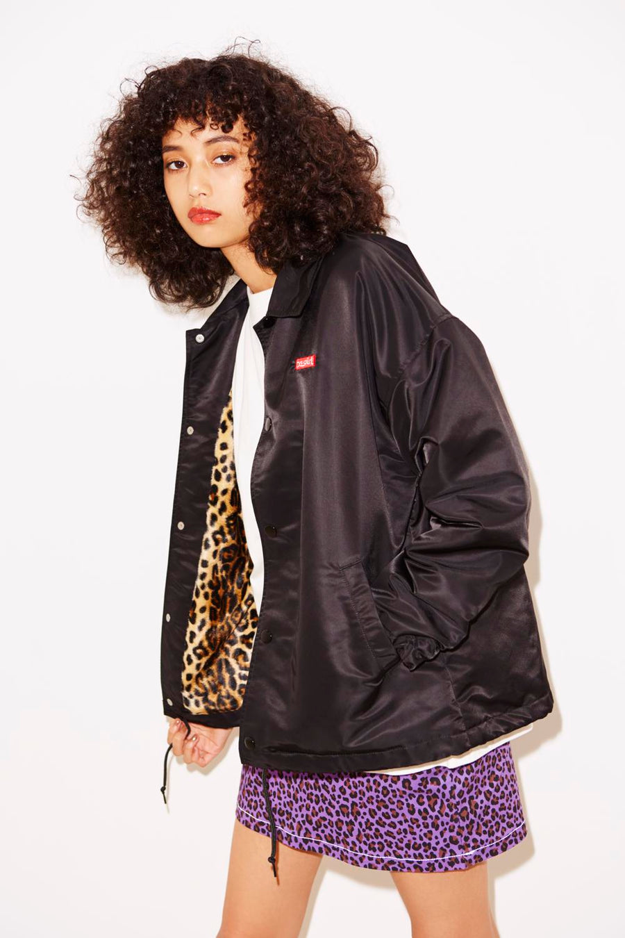 BOX LOGO COACH JACKET, JACKET, X-Girl