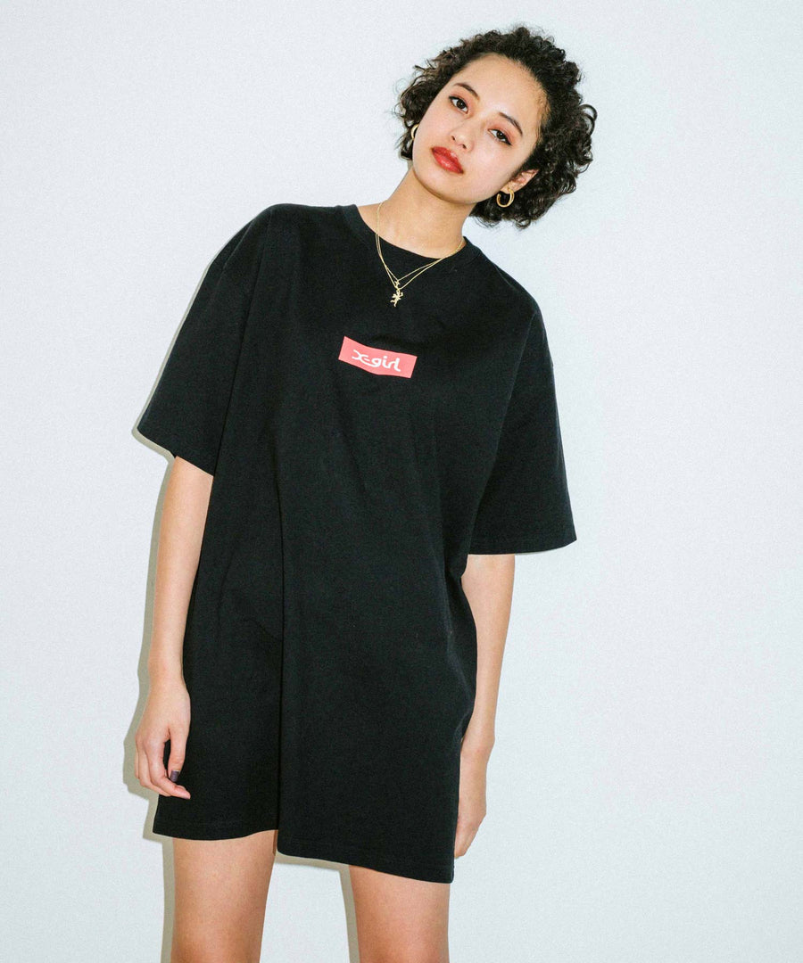 BOX LOGO S/S SUPER BIG TEE, T-SHIRTS, X-Girl