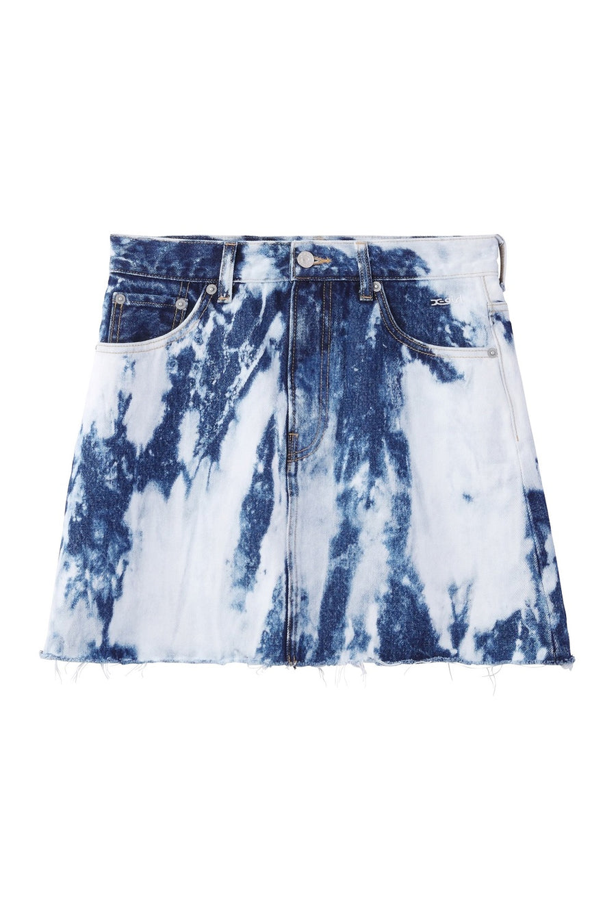 HEAVY BLEACH FRINGE MINI SKIRT