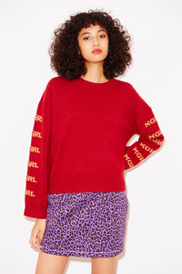 LAMB WOOL KNIT TOP, HOODIES & SWEATERS, X-Girl