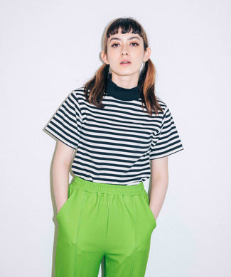 STRIPED BOTTLENECK TOP, C&S, X-Girl