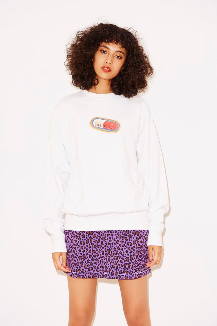#1 MEDICINE CREW SWEAT TOP, HOODIES & SWEATERS, X-Girl