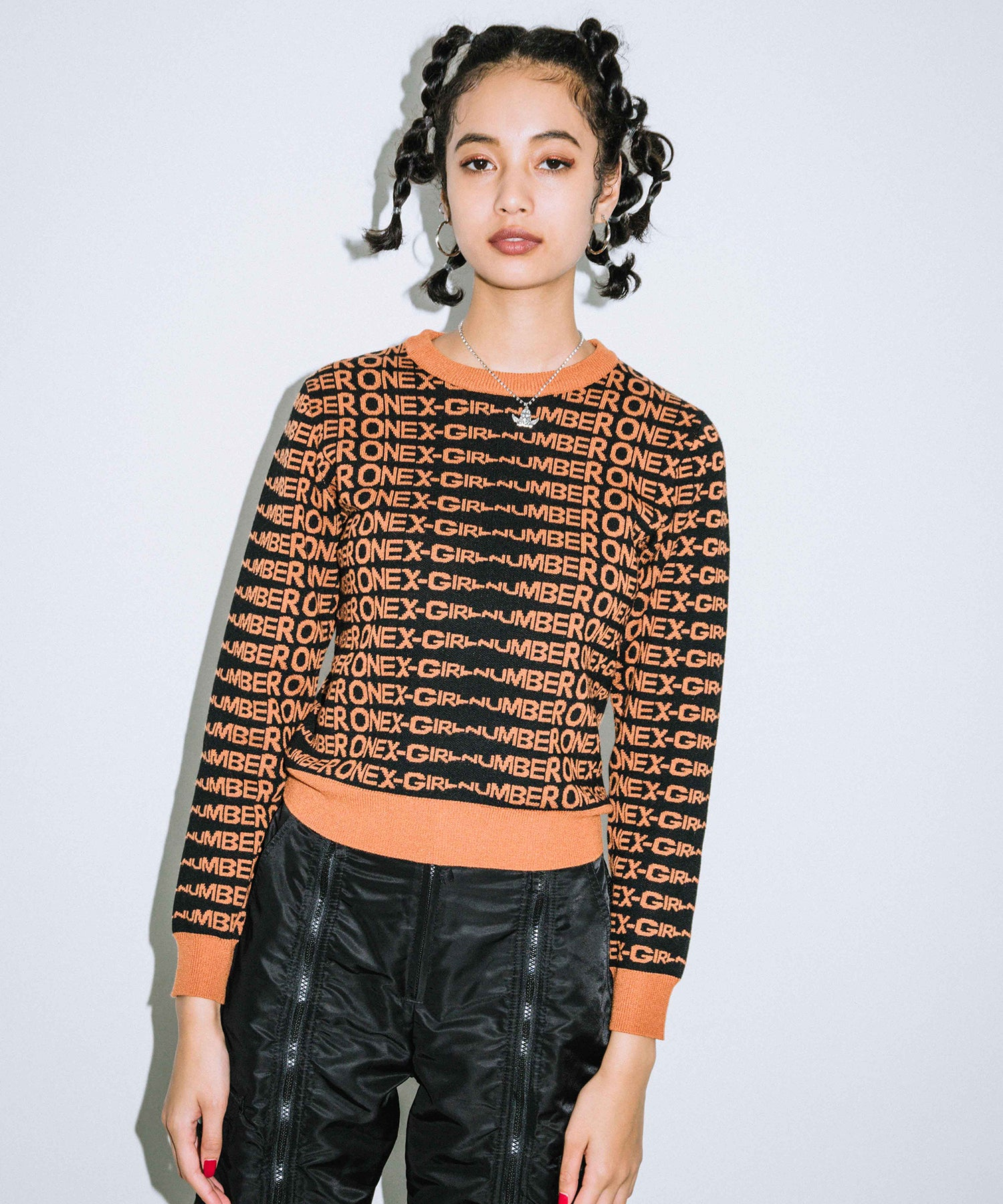 #1 JACQUARD KNIT TOP