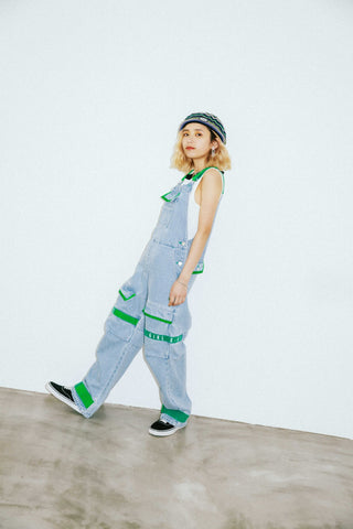 ADJUSTABLE STRAP CARGO OVERALL - X-Girl