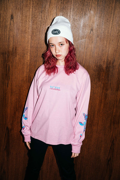 ROSE L/S REGULAR TEE, T-SHIRTS, X-Girl
