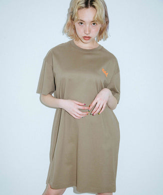 WINDING WORDS S/S TEE DRESS, DRESSES, X-Girl