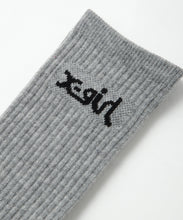 Load image into Gallery viewer, LOGO 2P MIDDLE SOCKS, ACCESSORIES, X-girl