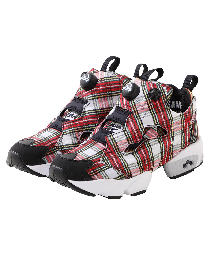 X-girl × Reebok PLAID INSTAPUMP FURY