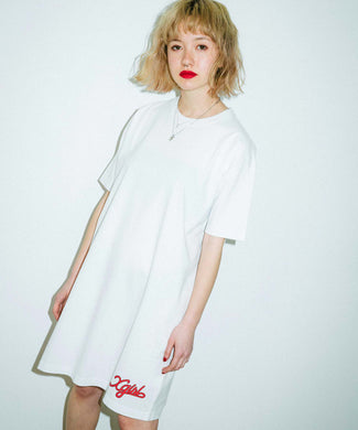 FLOWING LOGO S/S TEE DRESS, DRESSES, X-Girl