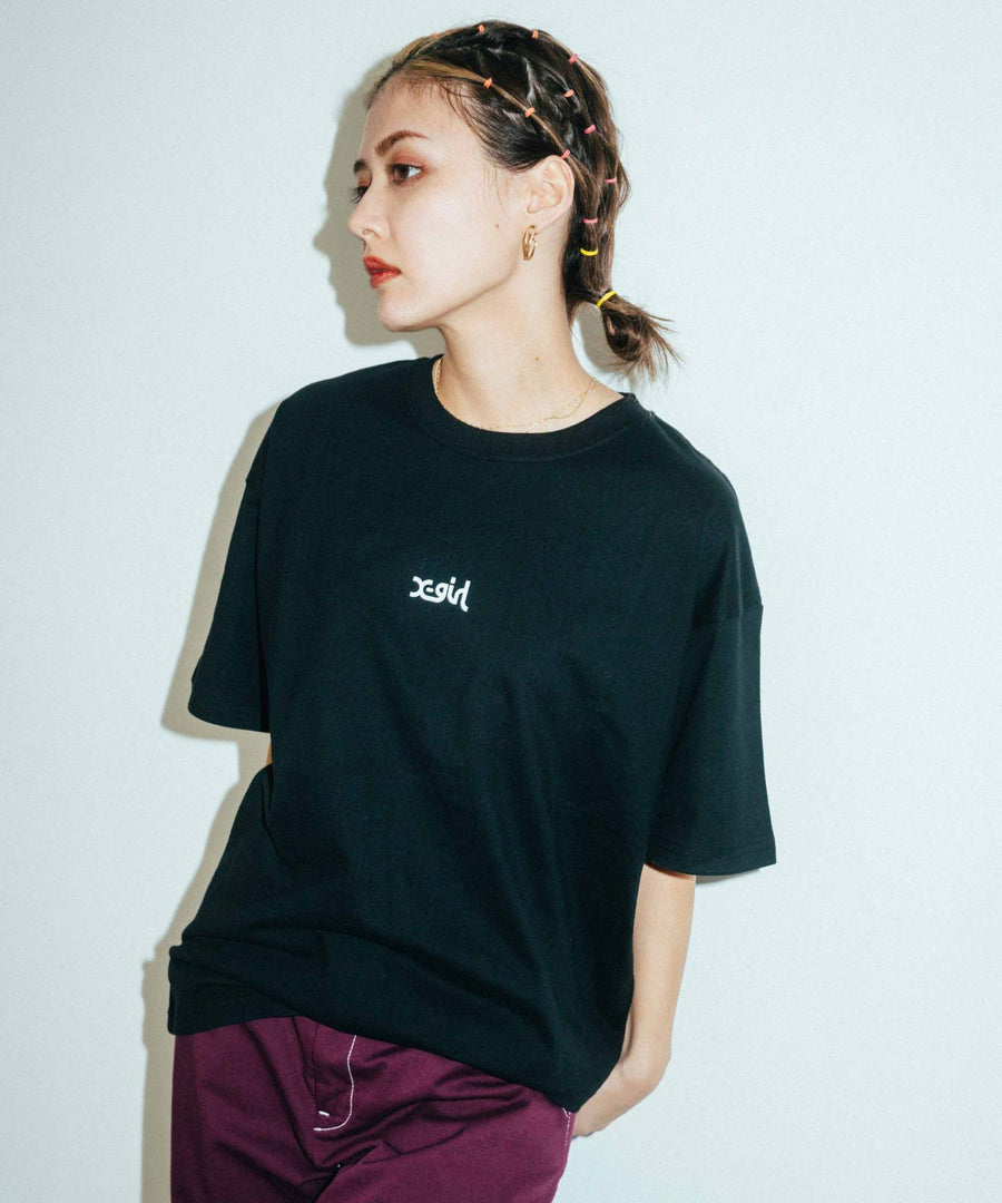 BASIC S/S BIG 2P TEE, T-SHIRT, X-Girl