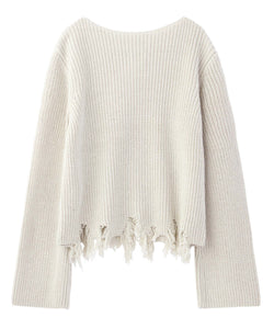 COTTON CROPPED KNIT TOP, TOPS, X-Girl