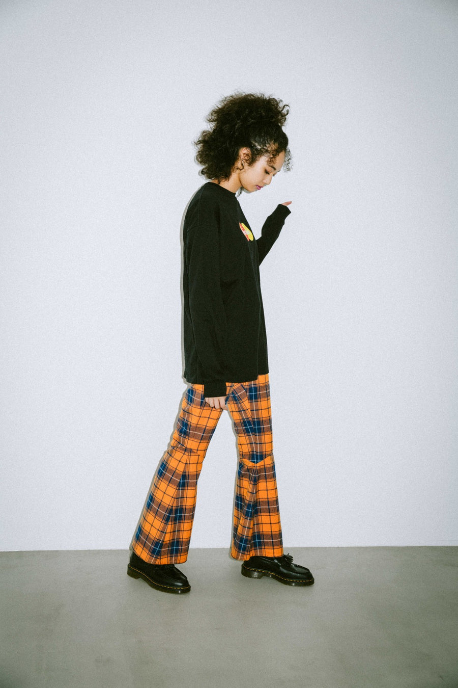 PLAID FLARE PANTS - X-Girl
