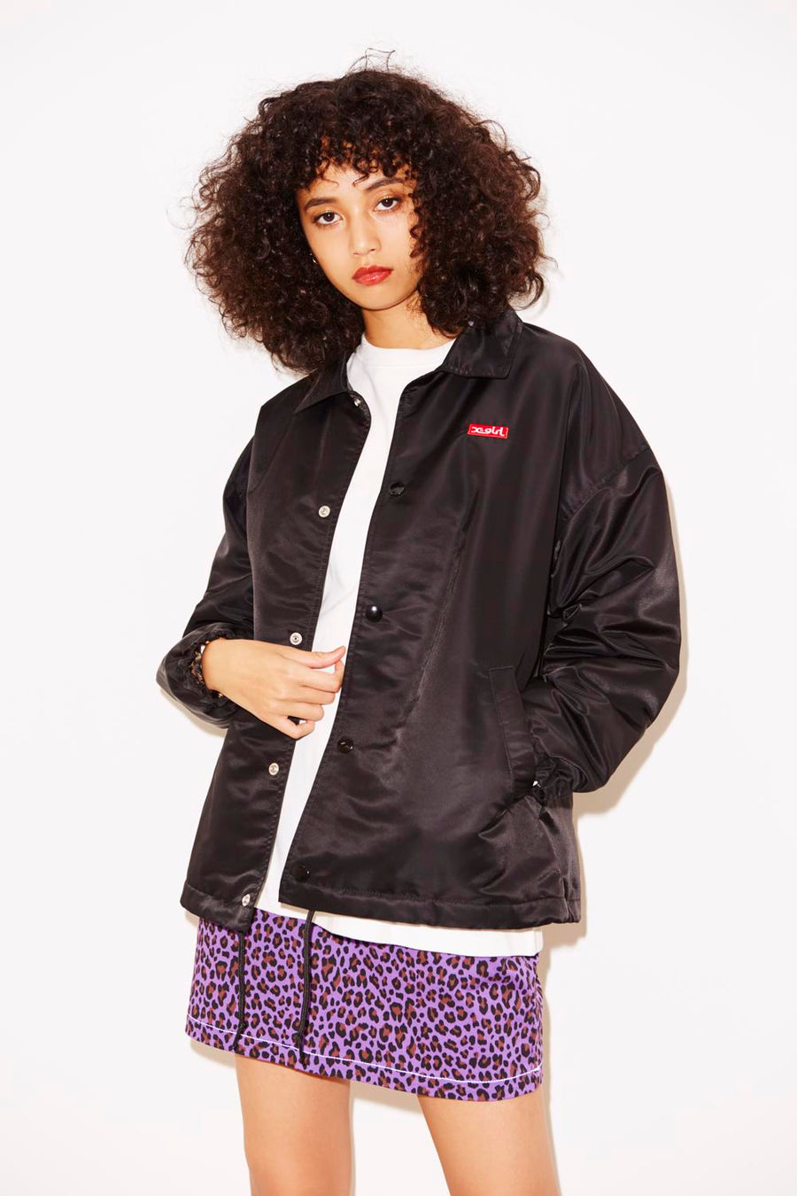 BOX LOGO COACH JACKET, JACKETS, X-Girl