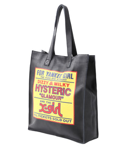 X-girl × HYSTERIC GLAMOUR LEATHER TOTE, ACCESSORIES, X-girl