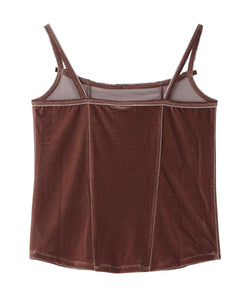 VELOUR CAMISOLE, TOPS, X-Girl