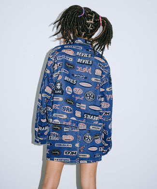 X-girl × HYSTERIC GLAMOUR ICONS DENIM JACKET, OUTERWEAR, X-Girl