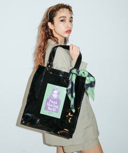 FACE CLEAR TOTE BAG, ACCESSORIES, X-Girl