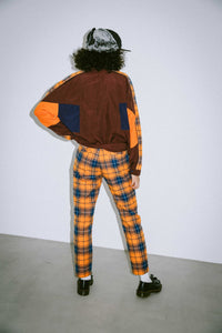 PLAID SLIM PANTS, PANTS, X-Girl