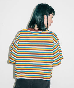 STRIPED S/S TEE, C&S, X-Girl