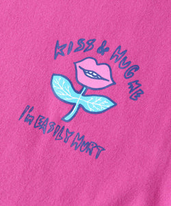 LIP FLOWER L/S REGULAR TEE, T-SHIRT, X-Girl