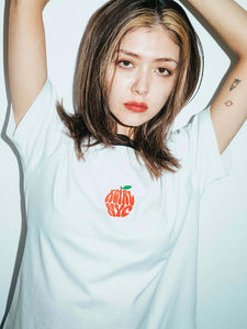 APPLE EMBROIDERY S/S CROPPED TEE, T-SHIRTS, X-Girl