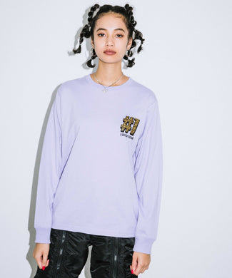 #1 LEOPARD LOGO L/S REGULAR TEE, T-SHIRTS, X-Girl