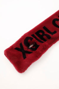 LOGO FUR STOLE, ACCESSORIES, X-Girl